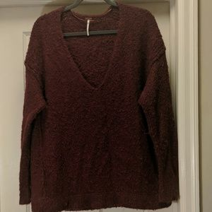 Free People | V Neck Alpaca Sweater